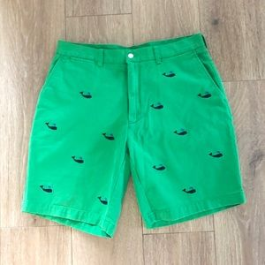 Polo Ralph Lauren Kelly Green Navy Whale Shorts 34